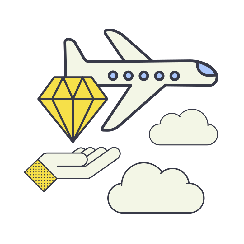 Luxury delivery Clipart illustration in PNG, SVG