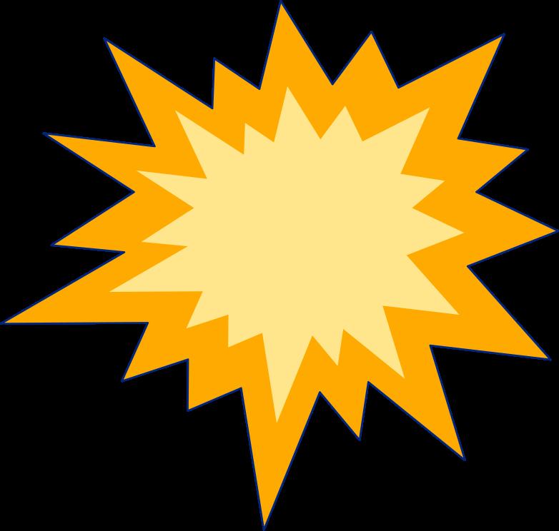 boom decoration sun Clipart illustration in PNG, SVG