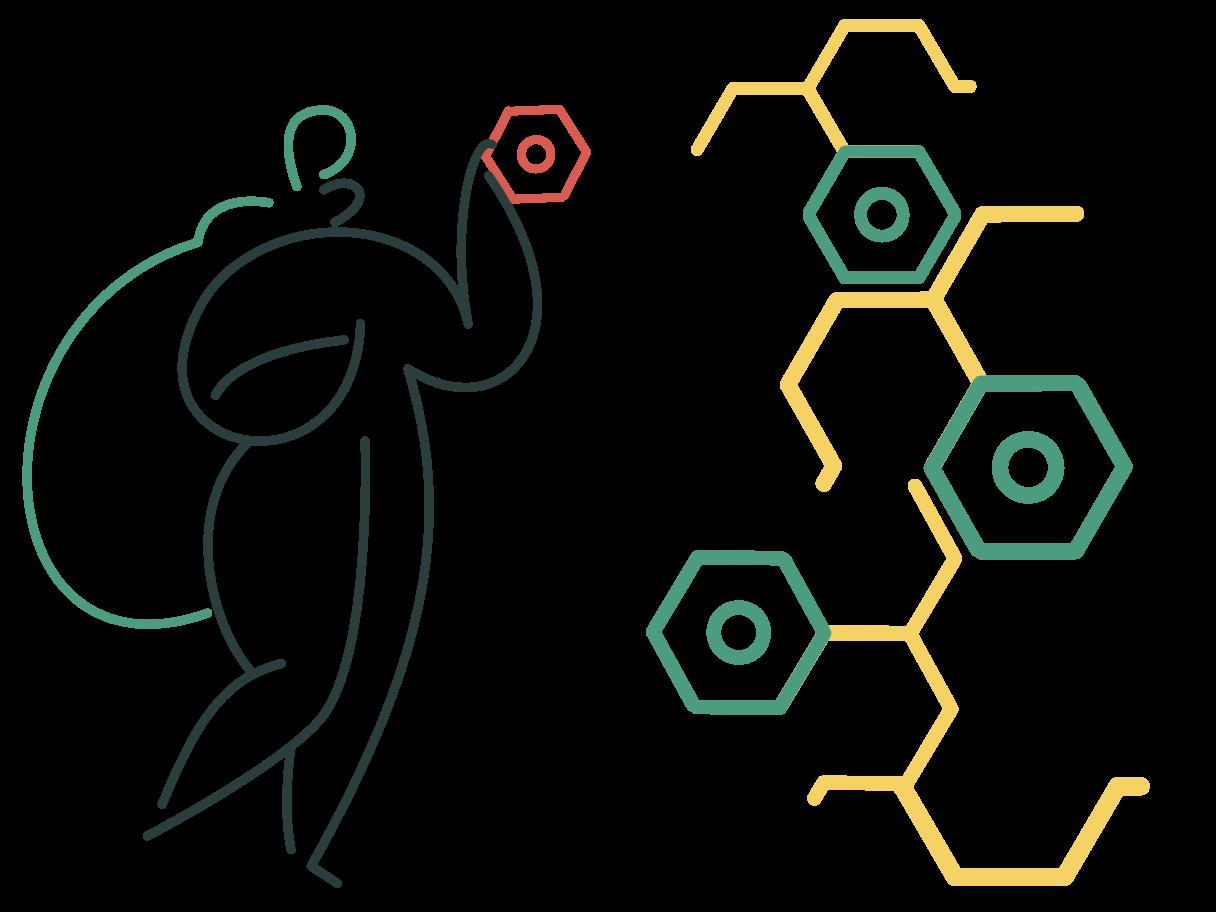 Molekülkette Clipart-Grafik als PNG, SVG