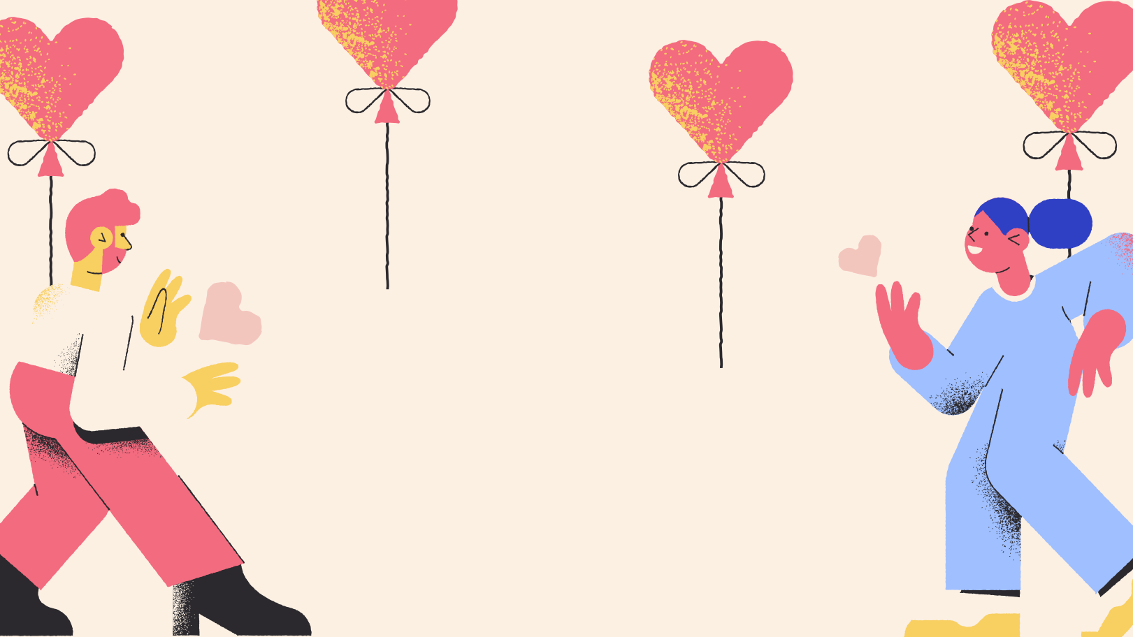 Romantic background Clipart illustration in PNG, SVG