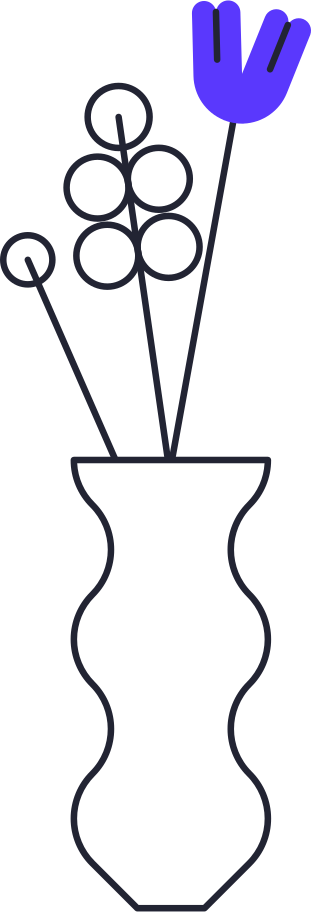 payment processed  vase with flowers Clipart illustration in PNG, SVG