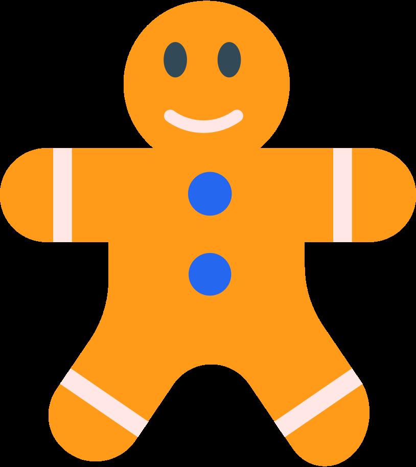 gingerbread man Clipart illustration in PNG, SVG