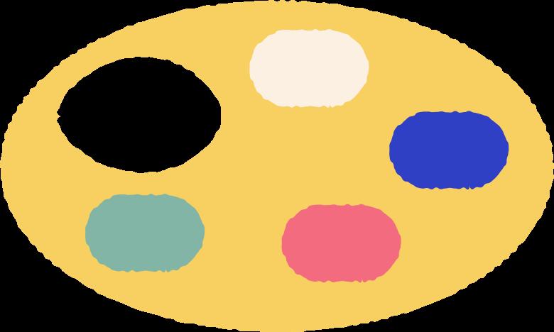 palette Clipart illustration in PNG, SVG