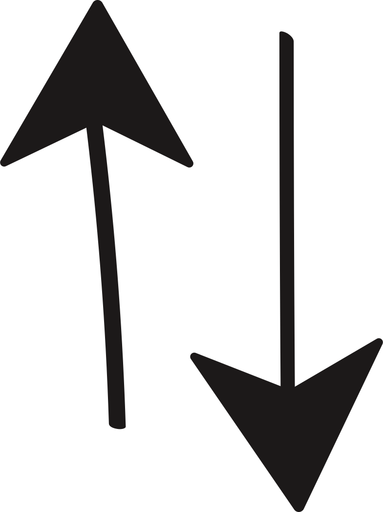 tk 2 arrows up&down Clipart illustration in PNG, SVG