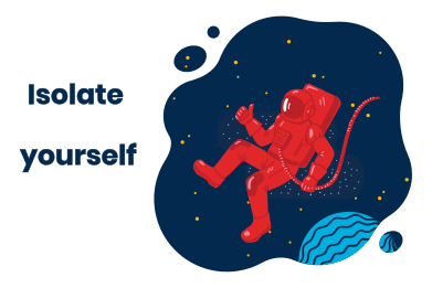 style Isolate yourself... in the space images in PNG and SVG | Icons8 Illustrations
