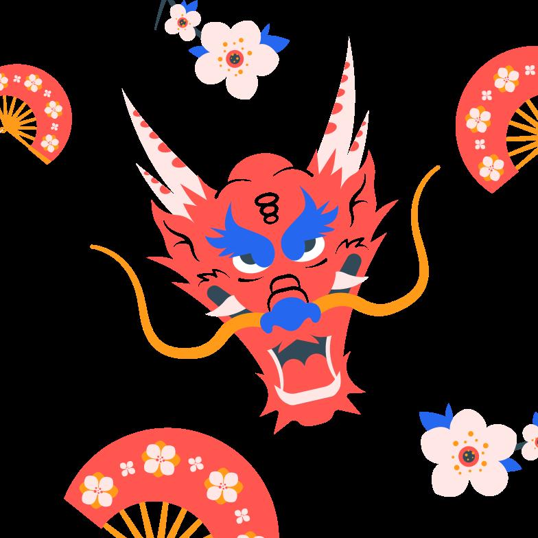 Ilustración de clipart de Año nuevo chino en PNG, SVG