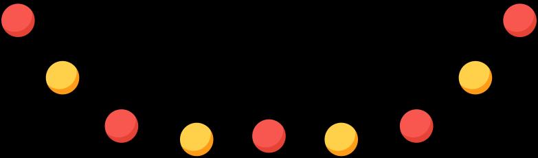 Ilustración de clipart de xmas lights en PNG, SVG