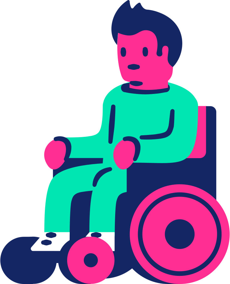 man in a wheelchair Clipart illustration in PNG, SVG