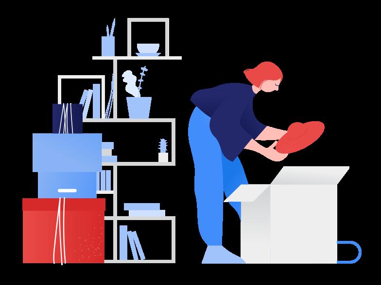 Иллюстрация Подготовка к переезду в стиле  в PNG и SVG | Icons8 Иллюстрации