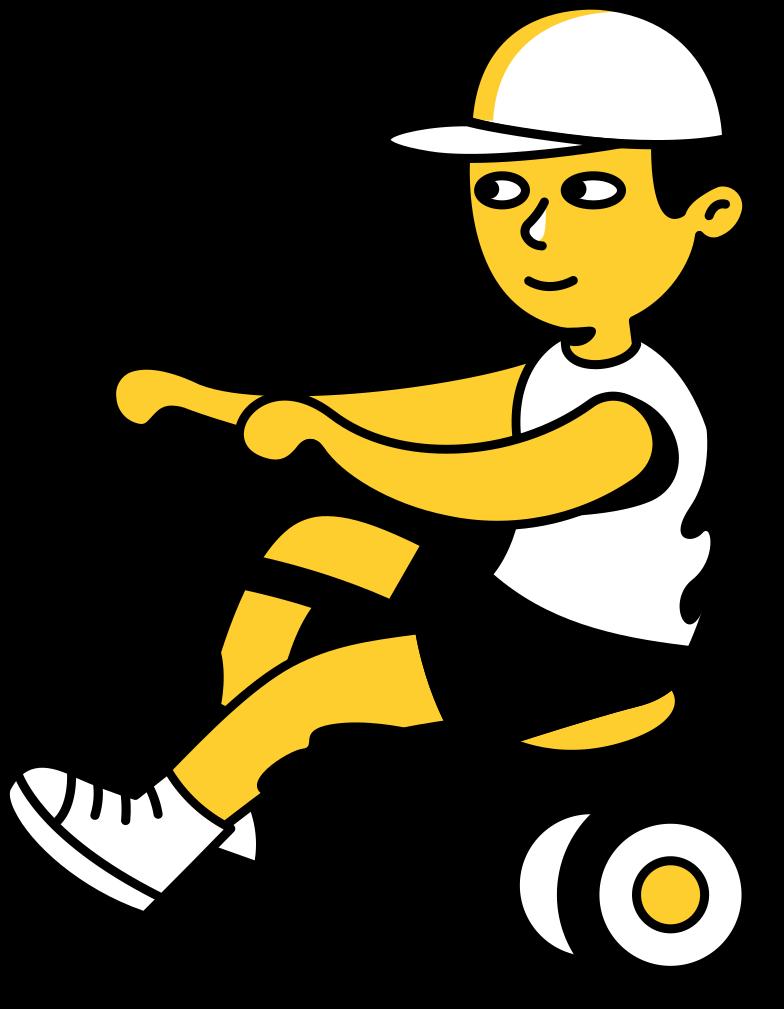 kid on bike Clipart illustration in PNG, SVG