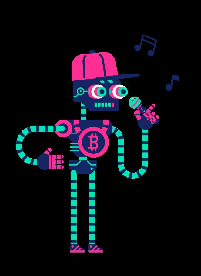 Robot singer Clipart illustration in PNG, SVG