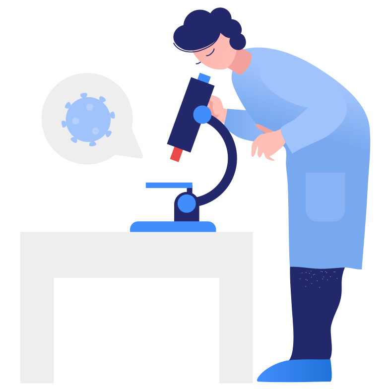 Virus research Clipart illustration in PNG, SVG