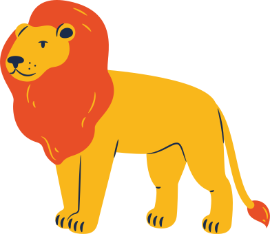 style lion standing images in PNG and SVG | Icons8 Illustrations