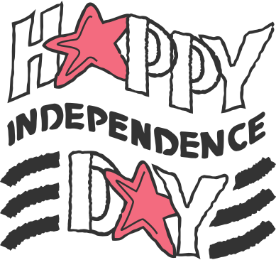 style happy independence day inscription images in PNG and SVG | Icons8 Illustrations