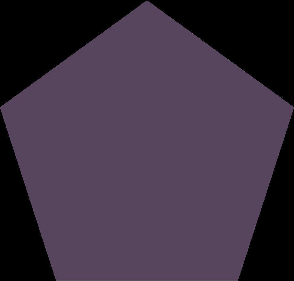 pentagon purple Clipart illustration in PNG, SVG