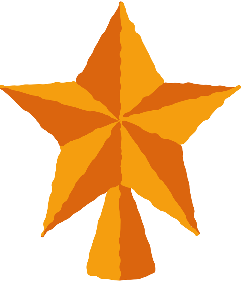 top tree star Clipart illustration in PNG, SVG