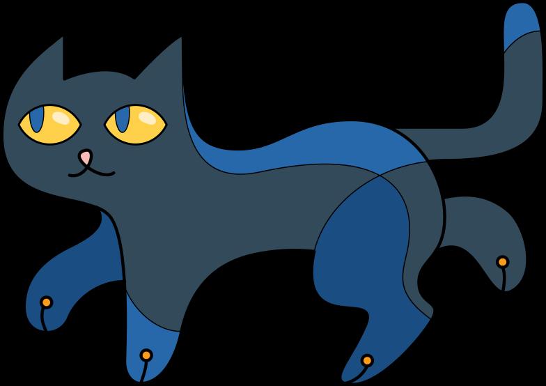 black cat Clipart illustration in PNG, SVG