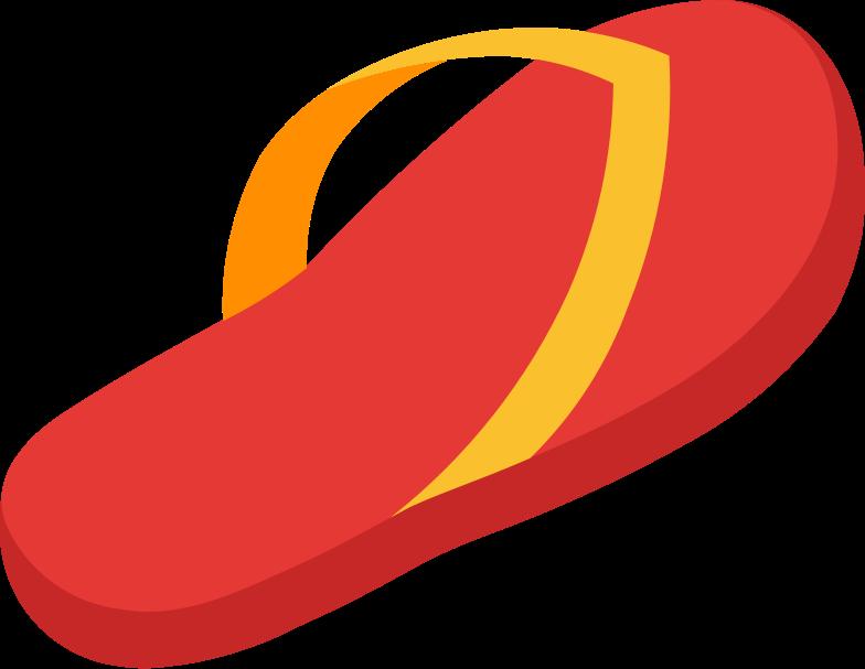 flip-flops right Clipart illustration in PNG, SVG