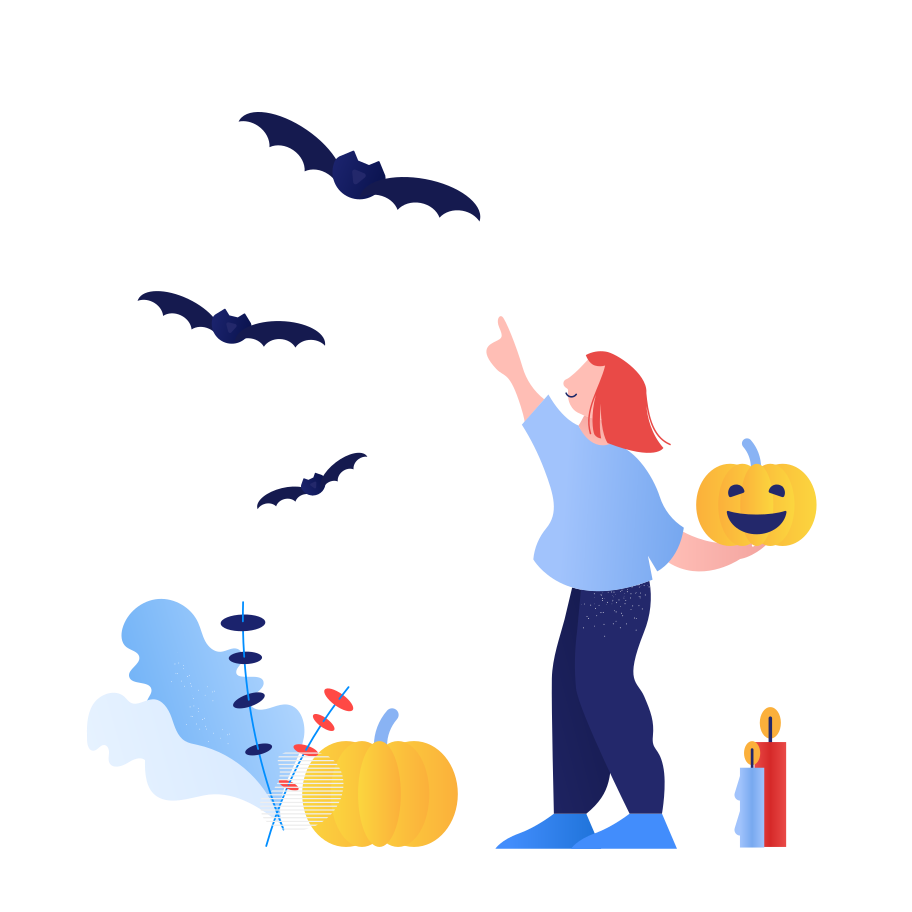 Halloween bats Clipart illustration in PNG, SVG