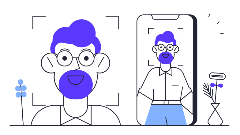 style Face ID Vector images in PNG and SVG | Icons8 Illustrations