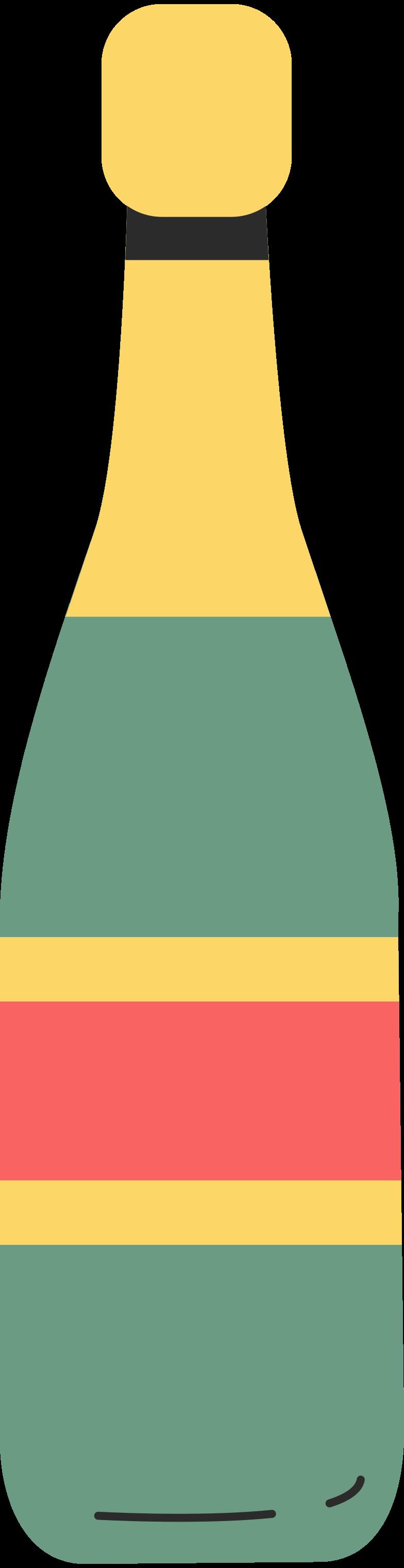 bottle of champagne Clipart illustration in PNG, SVG