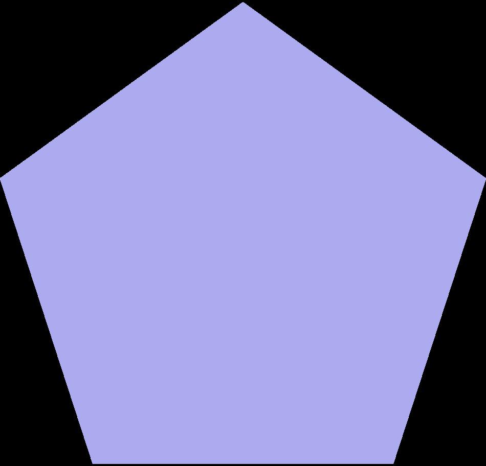 pentagon-purple Clipart illustration in PNG, SVG