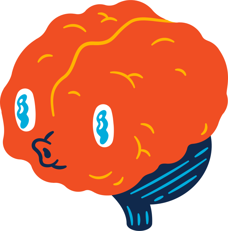 brain excited Clipart illustration in PNG, SVG