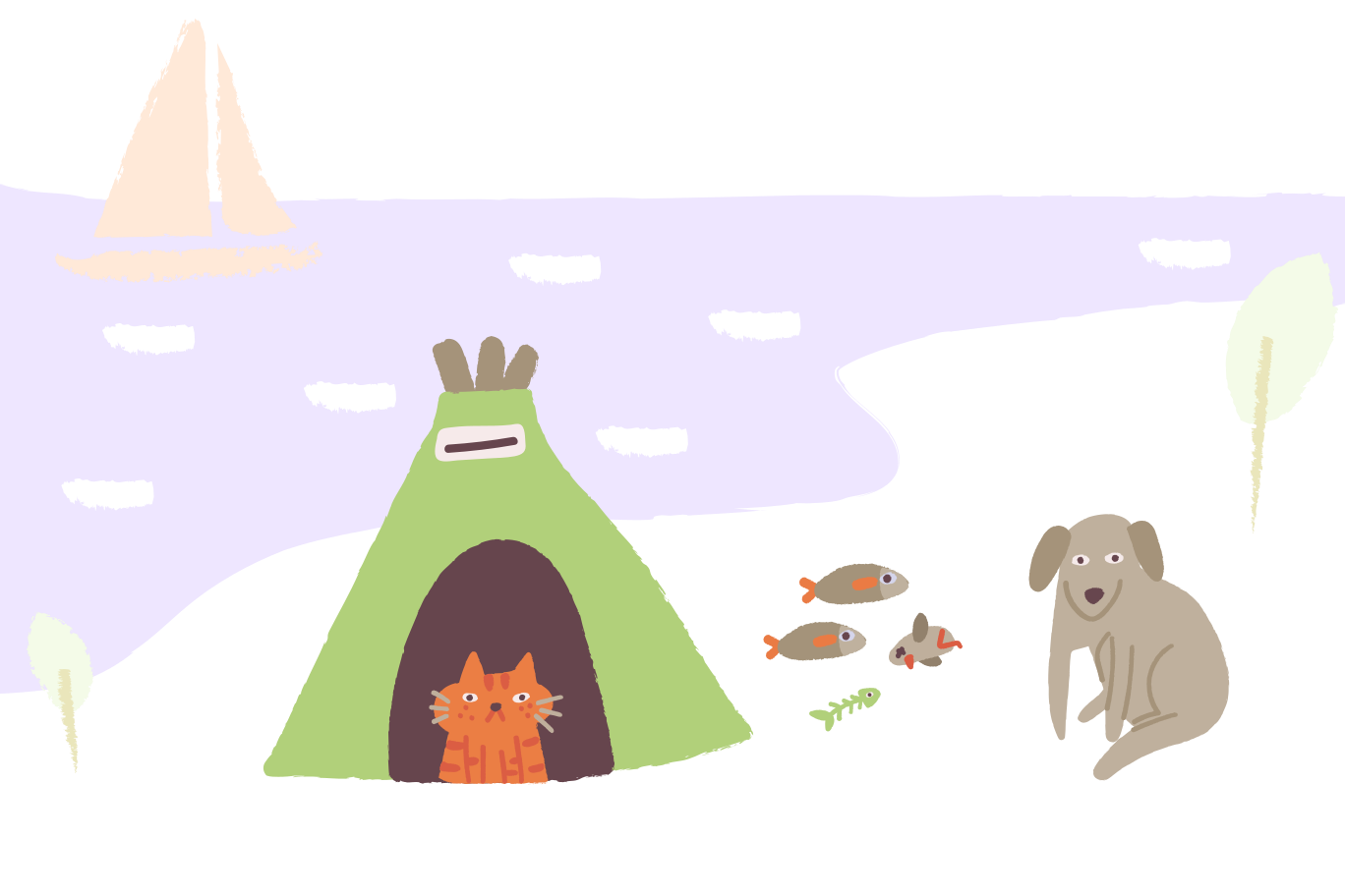 Camping Clipart illustration in PNG, SVG