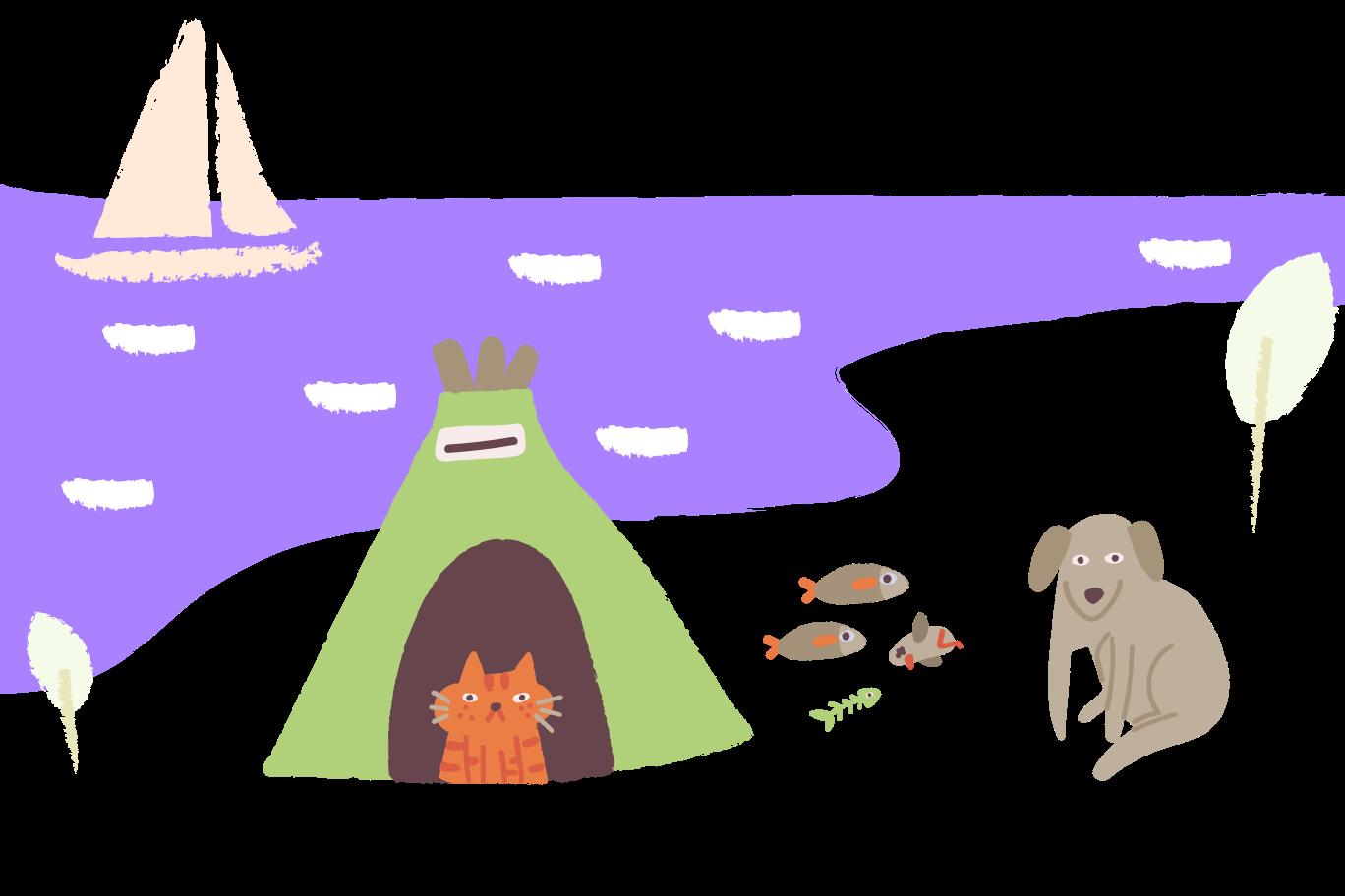 Camping Clipart-Grafik als PNG, SVG