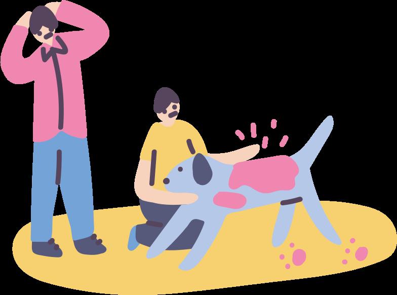 子供、親、関係、ふれあい動物 のPNG、SVGクリップアートイラスト