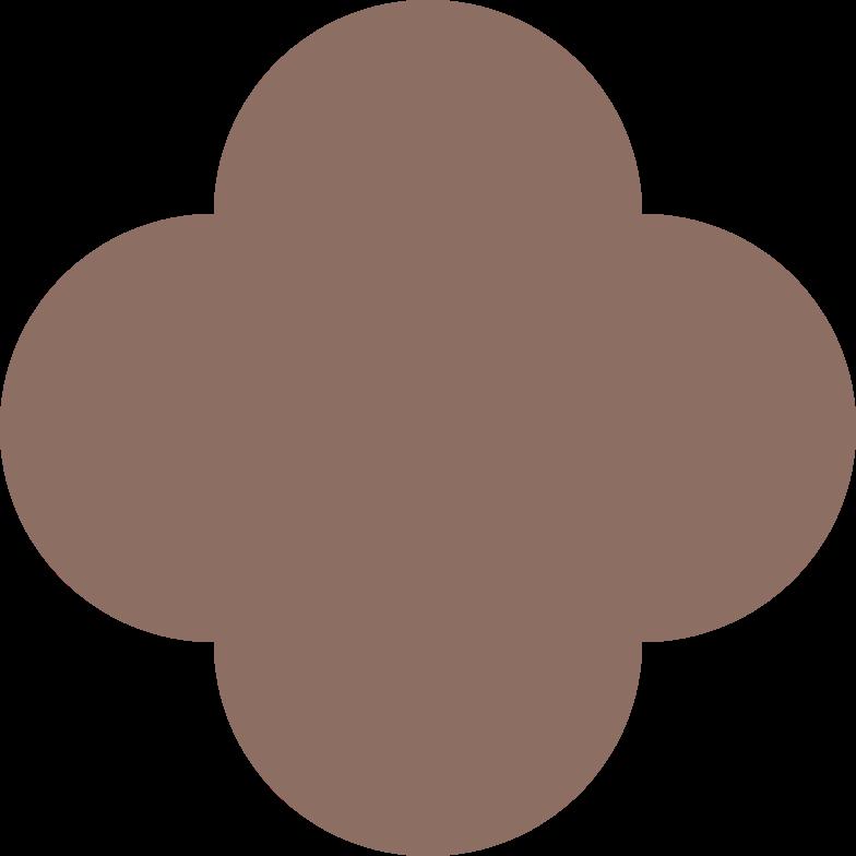 quatrefoil brown Clipart illustration in PNG, SVG