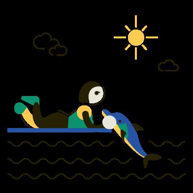 Иллюстрация Дельфинарий в стиле  в PNG и SVG | Icons8 Иллюстрации