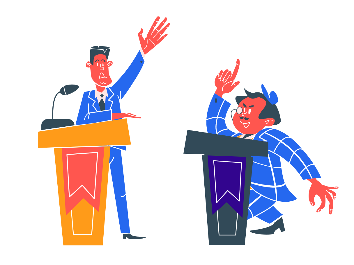 style Politicians debating Vector images in PNG and SVG   Icons8 Illustrations