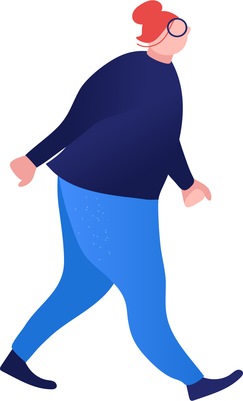 fat woman walking Clipart illustration in PNG, SVG