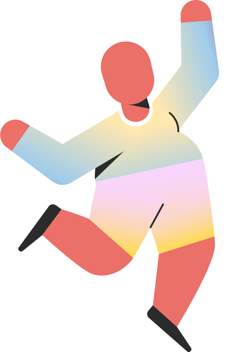 chubby child jumping Clipart illustration in PNG, SVG