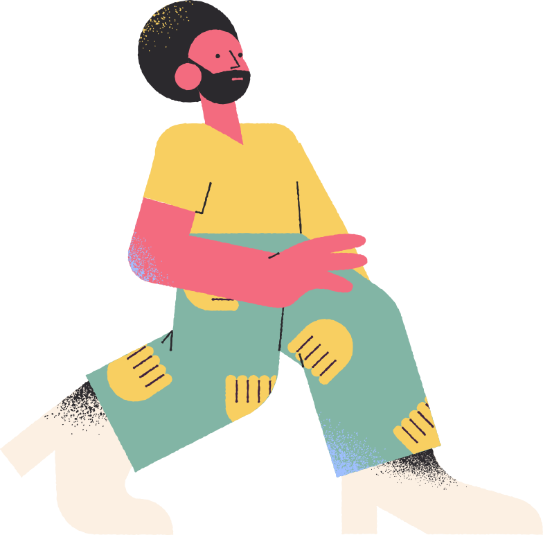 man with afro Clipart illustration in PNG, SVG