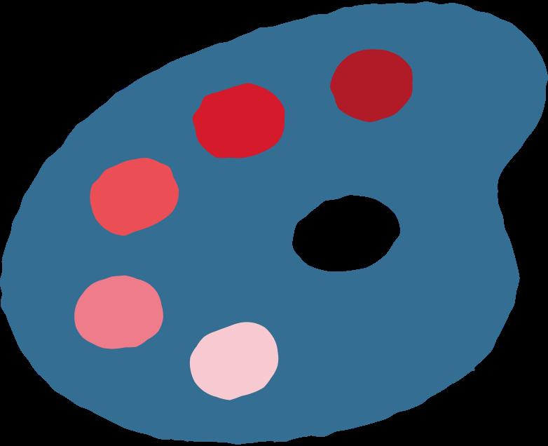 Paleta de arte Clipart illustration in PNG, SVG
