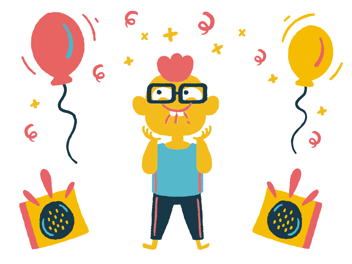 Party excitement Clipart illustration in PNG, SVG