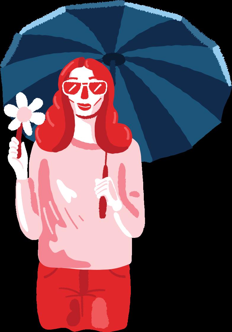 woman under umbrella Clipart illustration in PNG, SVG