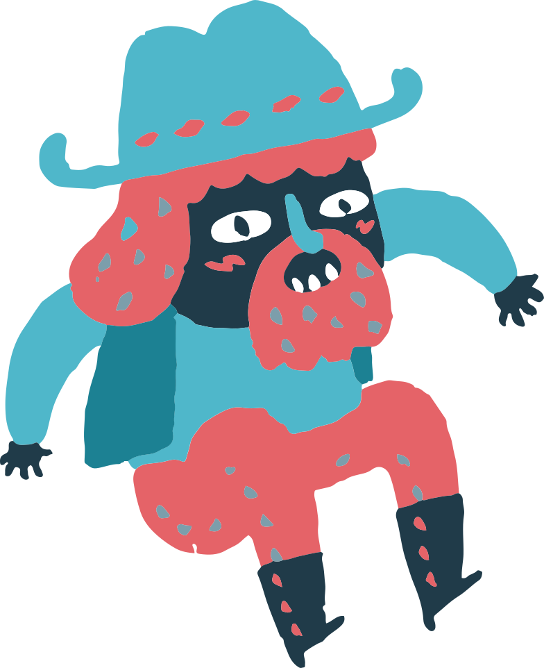 jumping cowboy Clipart illustration in PNG, SVG