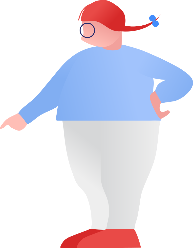 fat girl showing Clipart illustration in PNG, SVG