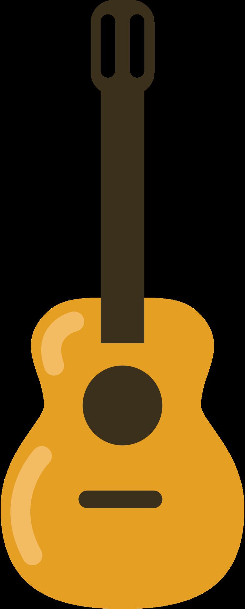 Illustration clipart guitar acoustic aux formats PNG, SVG