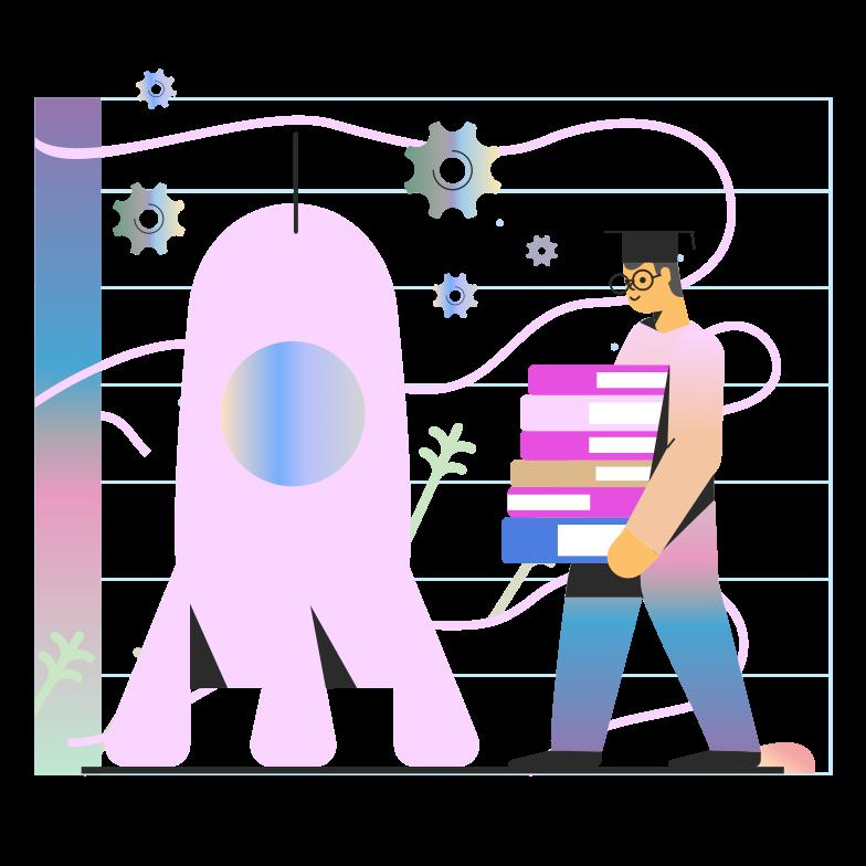 Ilustración de clipart de inicio de desarrollo en PNG, SVG