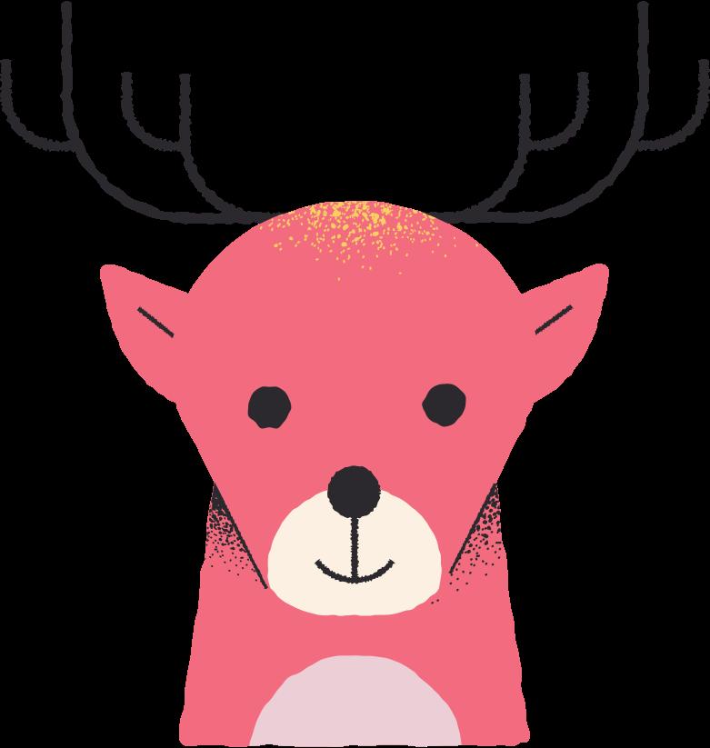 Ilustración de clipart de reno en PNG, SVG