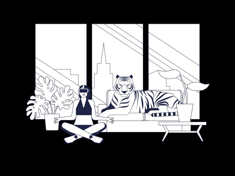 VR Fitness Clipart illustration in PNG, SVG