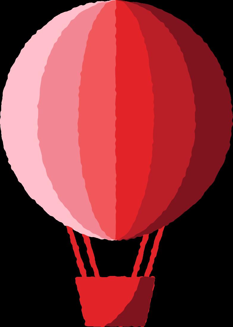 PNGとSVGの  スタイルの 熱気球赤 ベクターイメージ | Icons8 イラスト