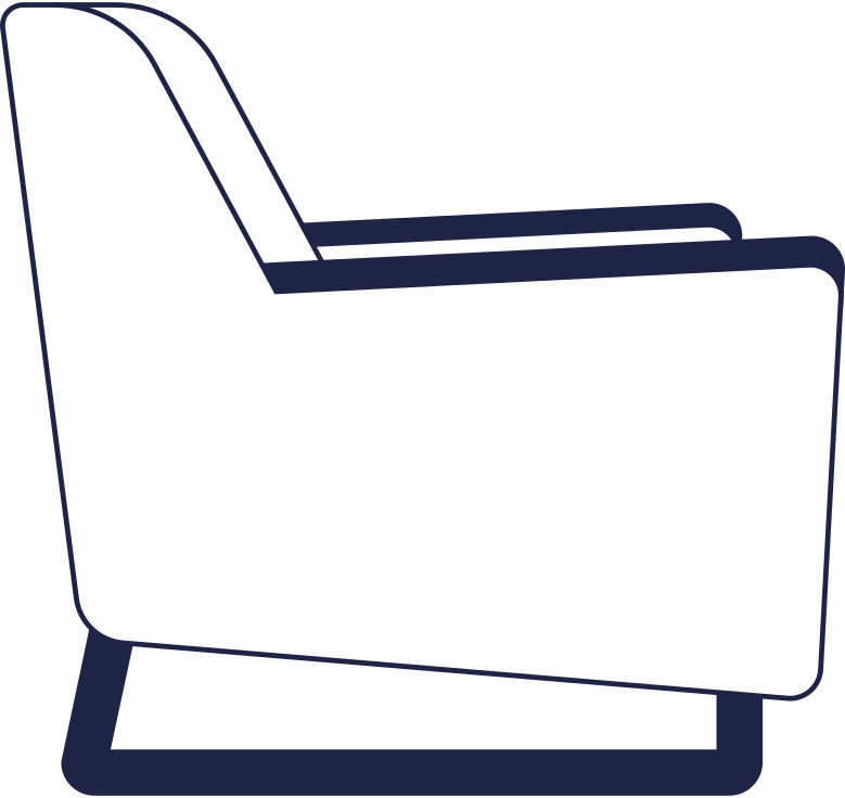 payment processed  armchair line Clipart illustration in PNG, SVG