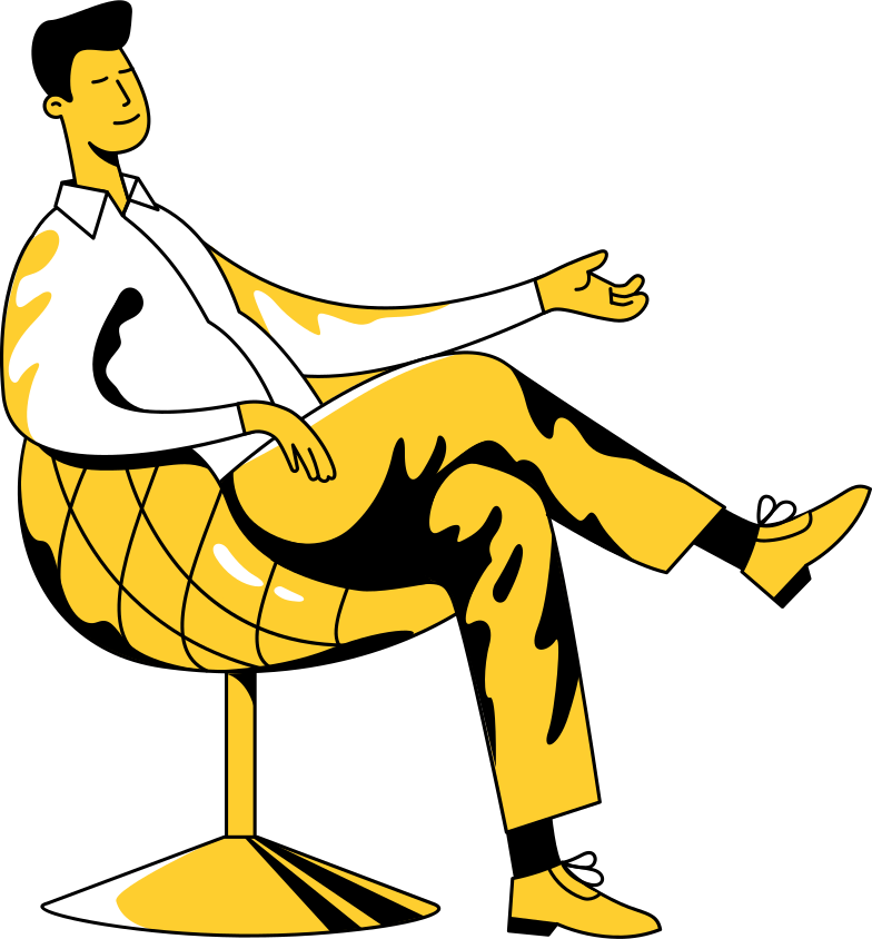 coffee break  sitting man Clipart illustration in PNG, SVG