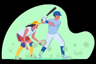 Imágenes de jugando baseball estilo  en PNG y SVG | Ilustraciones Icons8