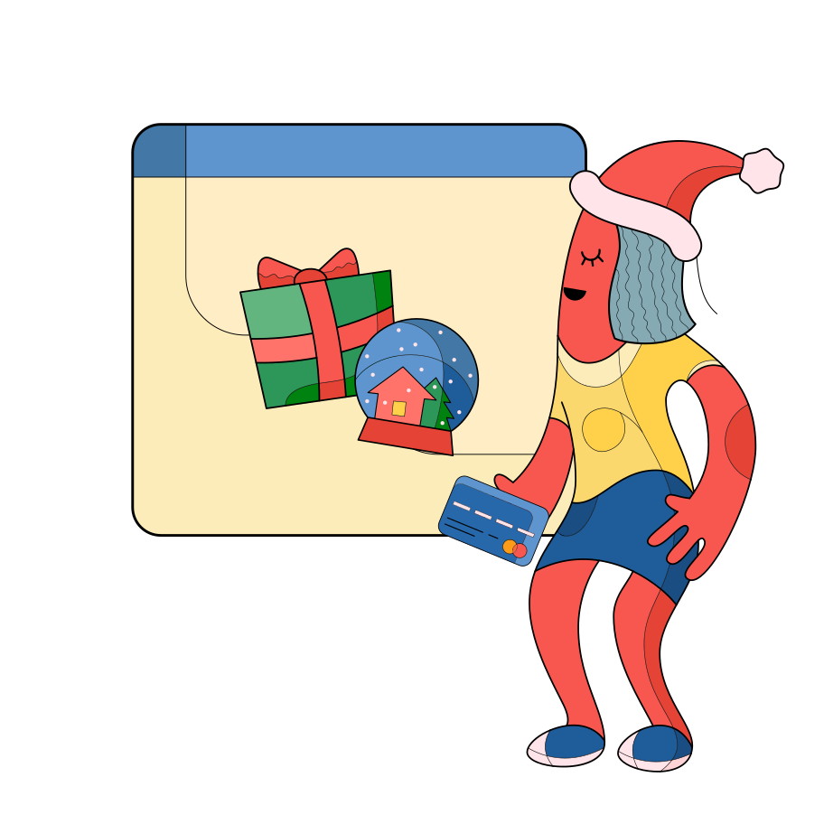 Christmas Shopping Clipart illustration in PNG, SVG